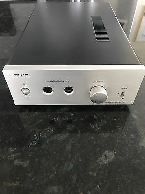 Music Hall PH25.2 Tube Preamp/Dual output Headphone Amplifier (Silver)