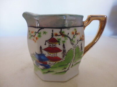 Vintage small pottery Hand-painted Klimax milk or cream jug made in Japan