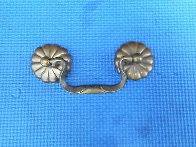 Antique Brass Furniture Knob Handle Drawer Dresser Pull Hardware Vintage NOS