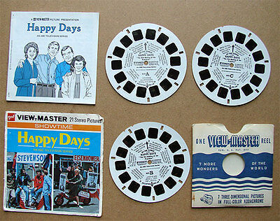 Vintage Happy Days View-Master 3 Reel Set with booklet