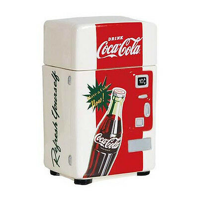 Coca Cola REFRESH YOURSELF 1950's Vending Machine CANISTER Ceramic  NEW IN BOX