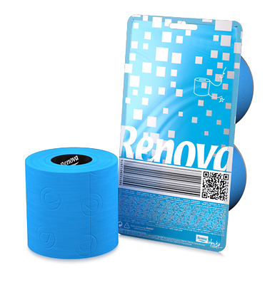 Renova Cristal Colored Toilet Paper 2 Roll Packs **NEW** Blue