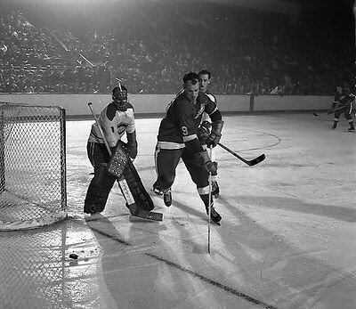 Charlie Hodge , Gordie Howe Montreal Detroit Game Auction  8x10 Photo