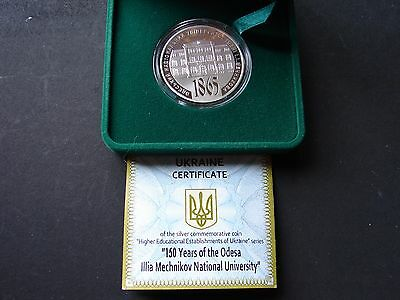 """5 Hryven 2015 Silver Coin ! """"150 Years Of The Odesa National University"""""""
