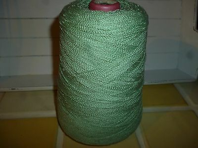 4ply CONE OF GREEN MACHINE OR HAND KNITTING/CRAFTING WOOL/YARN 490g/ 16ozs