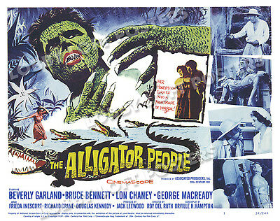 The Alligator People Lobby Title Card Poster 1959 Bruce Bennett Beverly Garland