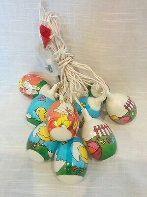 Easter Egg holiday string lights bunny rabbit chick chicken duck carrots basket