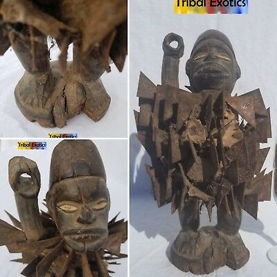 PREMIUM tribal fine African Art - Bakongo Nkisi Power Figure Sculpture Statue