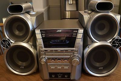 JVC Compact Stereo System MX-GC5 w/ Speakers, Remote, Antenna