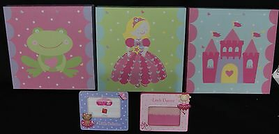 3 CANVAS Prints & 2 CERAMIC Picture Frames For Girl's Room