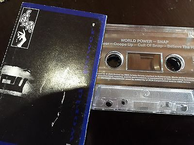 SNAP - - WORLD POWER - - Rare 1990 Australian Cassette (Tape)  Hip Hop