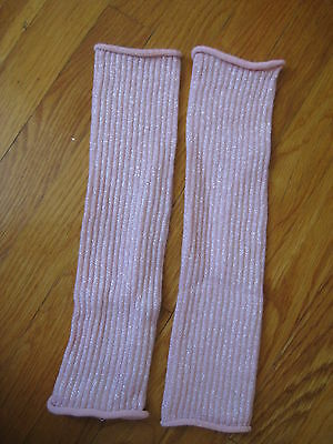 H&M pink sparkle girls LEG WARMERS legwarmers socks ballet dance for dress skirt
