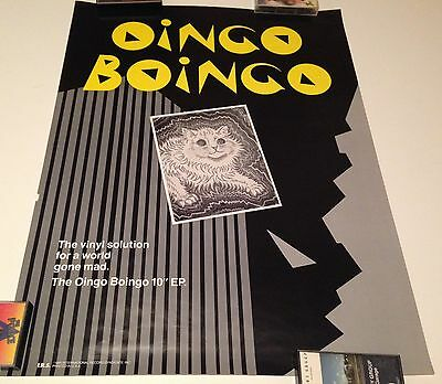 Oingo Boingo 1980 EP Promo Poster Display Danny Elfman Ain't This The Life Urgh