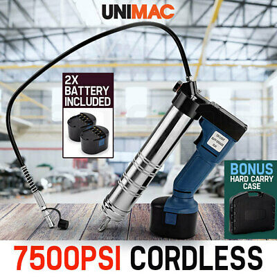 NEW UNIMAC Grease Gun Cordless Battery 12v Electric Rechargeable