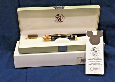 Uncle Scrooge Collectible Pen Bank Of Duckburg Colibri Mickey & Co Black/brass