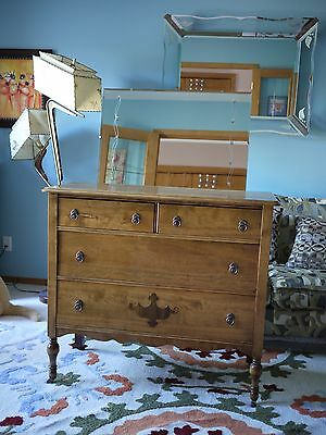 Beautiful Antique Dresser/Dining Room Sideboard with vintage Mirror