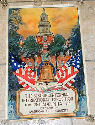 ORIGINAL 1926 Print, Sesqui-Centennial international Expo Philadelphia DAN SMITH
