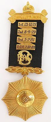 1975 to 1984 R.A.O.B. BUFFALO ROLL OF HONOUR MEDAL, MANLY QLD LODGE No 562.