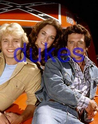 the DUKES OF HAZZARD #690,JOHN SCHNEIDER,tom wopat,CATHERINE BACH,candid photo