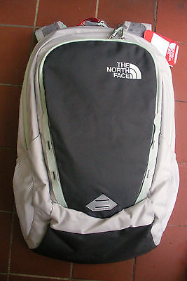The North Face  Womens Vault Backpack- Daypack - # Chj1 -Lunar Ice Grey / Green