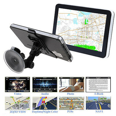 "7"" GPS Car Truck Navigation System 8GB Bluetooth AV-IN HGV LGV SAT NAV +Free Map"