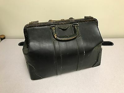 "Vintage Doctor's Leather Bag - Cool & Large Approx. 18"" x 11"" x 12"""