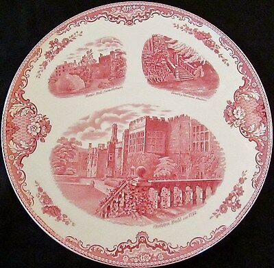 "Vintage Johnson Bros ""Old Britain Castles"" Cake Plate, Red, Rare"