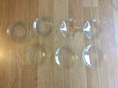 7 x vintage glass candle bobeches