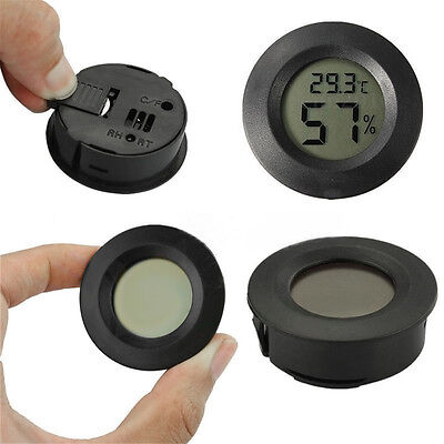 I PC Digital LCD Indoor Outdoor Thermometer Humidity Outdoor Home Office Round