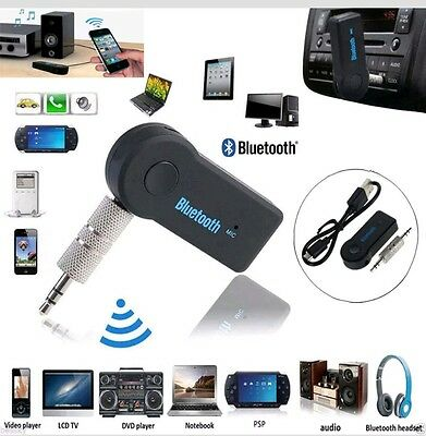 Wireless Bluetooth 3.5m AUX Mobile Stereo Music Home Car Receive Adapter Mic USA