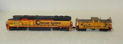 Atlas N Scale DCC Ready Chessie System SD-50 Diesel #8593 and Caboose