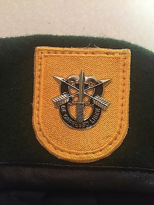 Vietnam Early Green Beret Special Forces Crest Harp Skull type - Reproduction