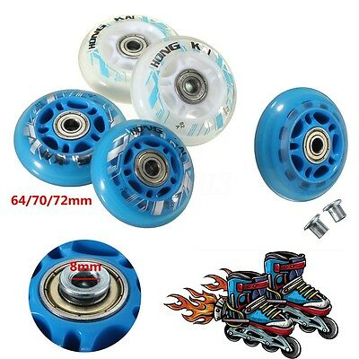 2/4PCS Outdoor Inline Roller Skates Blade Replacement Wheels 64mm 72mm AU STOCK