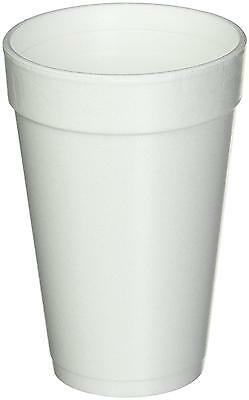 16 Oz. White Disposable Drink Foam Cups Hot and Cold Coffee Cup Pack of 40