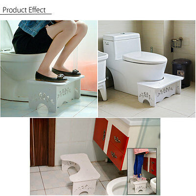 Squatty Toilet Stool Footstep Bathroom Potty Squat Aid Constipation Piles Relief