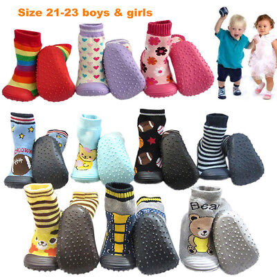 Socks Rubber Shoes Footwear Random Cartoon Baby Floor Child Toddler Soles Size22