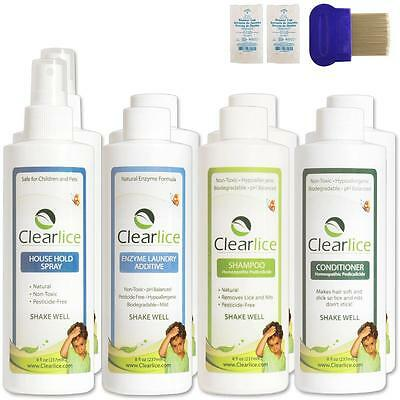 ClearLice Natural Head Lice Treatment Kit Family Size