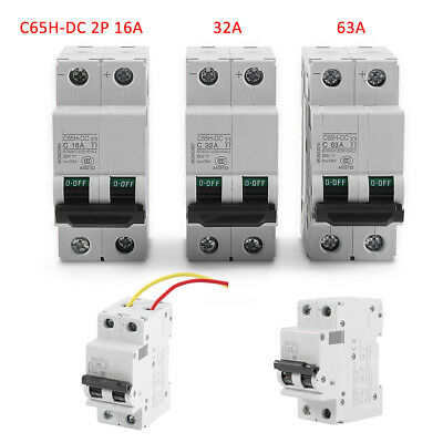 Miniature Circuit Breaker C65H-DC 2P 250V DC Solar Energy Air Switch Amps 32/63A