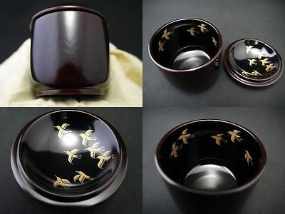 Japanese Traditional Lacquer Wooden Tea Caddy Tomaya-Natsume (602) WABI