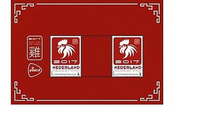 Nederland / The Netherlands - Postfris/MNH - Sheet Year of the Rooster 2017