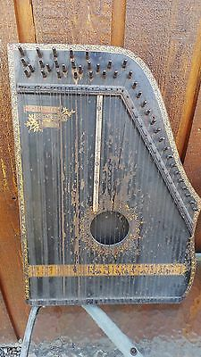 Antique Wooden Mandolin Guitar Harp MENZENHAUER ZITHER Patented 1894