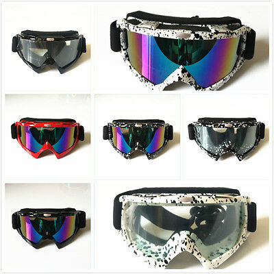 Clear Motocross Motorbike GOGGLES Antifog UV Protection MX Dirt  Road Trail Bike