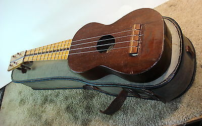 1916 Gordon Cypherd Soprano Ukulele Pomona California W/ Orig  End Open Case
