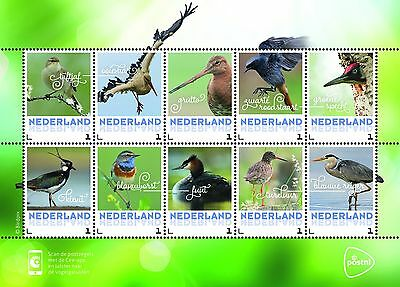 Nederland / The Netherlands - Postfris/MNH - Sheet Spring Birds 2017