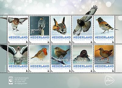 Nederland / The Netherlands - Postfris / MNH - Sheet Birds in Winter 2017