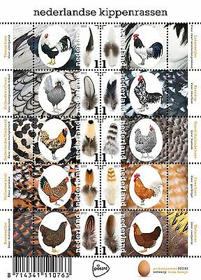 Nederland / The Netherlands - Postfris / MNH - Sheet Chickens 2017