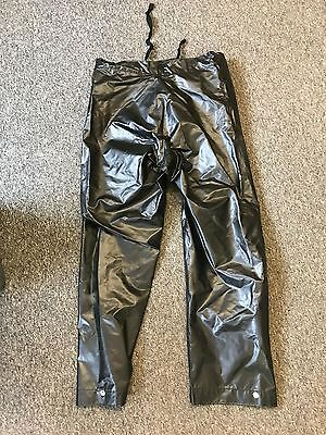 GPO Post Office British Telecom Telephone Eng Waterproof Trousers Black PVC