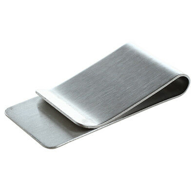 Money Clip, Stainless Steel Silver B9B2