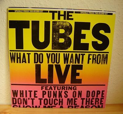 THE TUBES -WHAT DO YOU WANT - 2 LP's - LIVE -