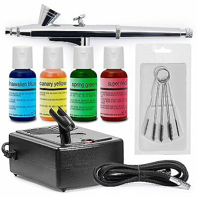 Cake Decorating Airbrush Kit - 4 Color Set